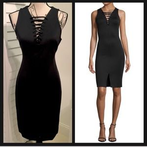 ✨NWT✨Sleeveless Lace-up Bodycon Little Black Dress